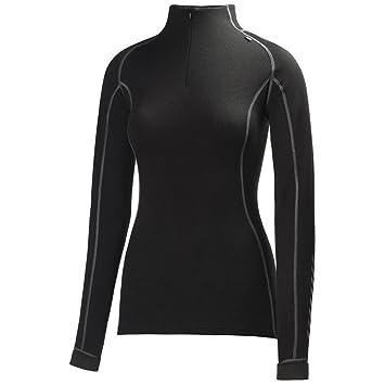 Helly Hansen Women's Warm Freeze 1/2 Zip Base Layer Tops, Black/Black