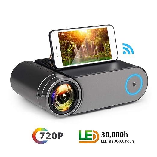 YYBF Mini Proyector, Proyector Cine En Casa, 720P Full HD ...