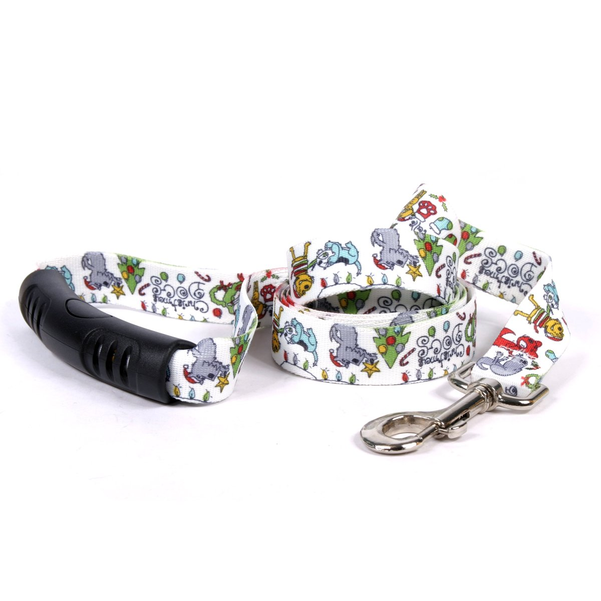 Yellow Dog Design Christmas Dogs Ez-Grip Dog Leash with Comfort Handle 1'' Wide and 5' (60'') Long, Large