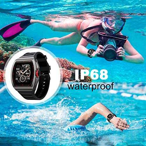 [1.4-inch Full Touch Smart Watch] GPS Running Watch with a Blood Pressure/Heart Rate Test, Calorie Calculator/Female Menstrual /Sleep Information Notification/Incoming Call Reminder/Rejection 61jc7SvGvsL
