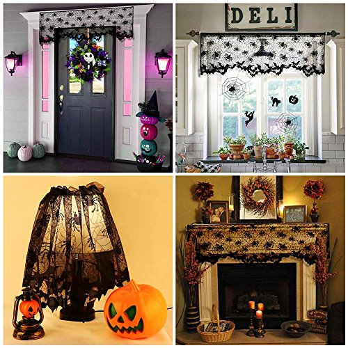 Aerwo halloween decorations lace lamp shades black bats spiders web aerwo halloween decorations lace lamp shades black bats aloadofball Images