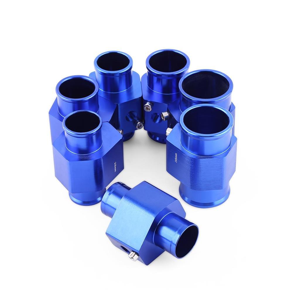 Qiilu Universal Metall Auto Wassertemperatur Joint Rohr Schlauch Temperatursensor Adapter Blau(34MM)