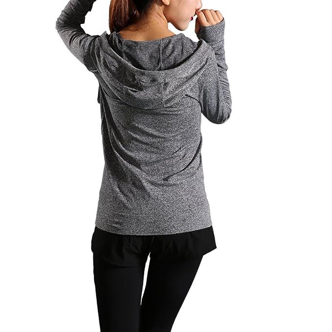 d82db764529 ALLUSIVE Womens Full Zip Up Hoodie, Cute Active Lightweight Sweatshirt for  Women