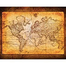 World Map Antique Vintage Old Style Decorative Educational Poster Print, 16x20 Unframed