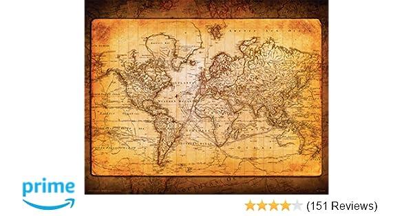 Amazoncom World Map Antique Vintage Old Style Decorative - Decorative maps for sale