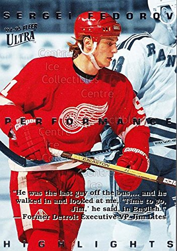 (CI) Sergei Fedorov Hockey Card 1994-95 Ultra Sergei Fedorov 5 Sergei Fedorov