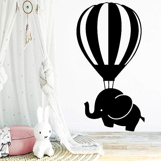 wukongsun Color Elefante Globo aerostático Pegatinas de Pared ...