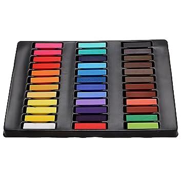 Lars360 Haar Kreide Haarfarb Haarkreide Kurz 36 Farben Set
