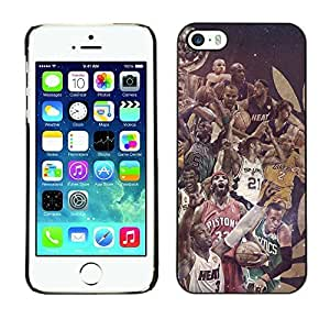 BasketCase Champions Basketball Sport Apple Iphone 5 / 5S / / Slim 360 Protection Case Cover PC / Aluminium Protector Shell Rugged Kimberly Kurzendoerfer