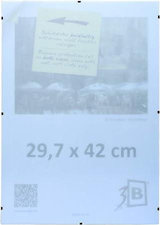 3 B Set 3 Stk Rahmenlose Bildhalter Mit Polyesterglas Cliprahmen 29 7x42 Cm A3