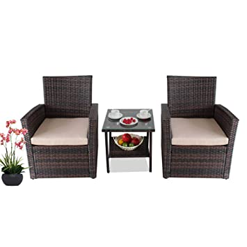 Amazon Com Patio Bistro Chair Set Outside Porch Conversation