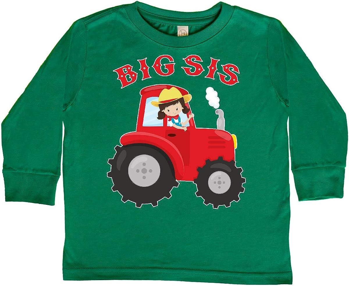 inktastic Farmer Tractor Big Sis Toddler Long Sleeve T-Shirt