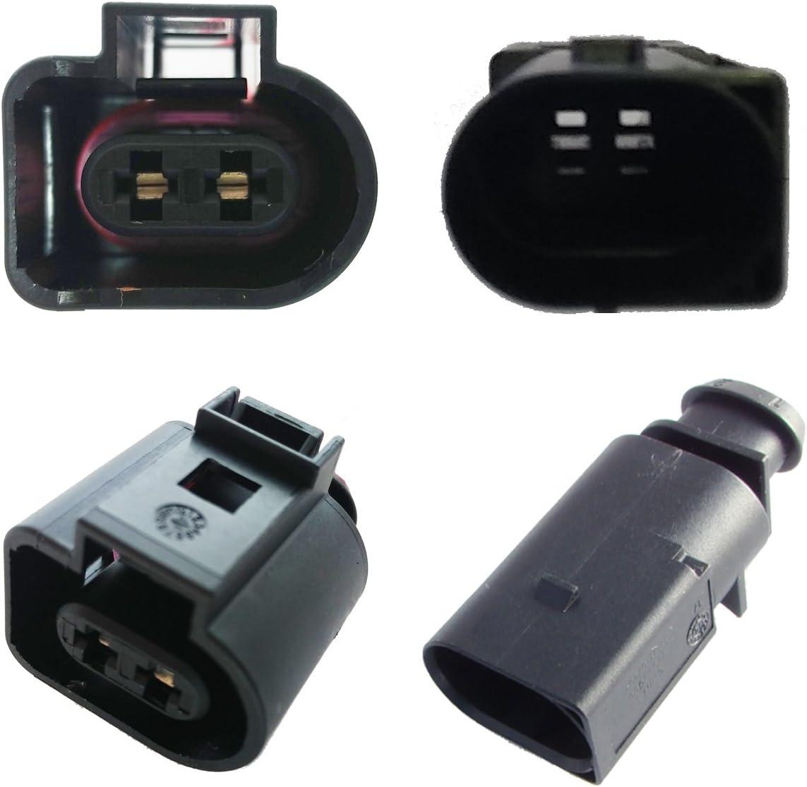 Reparatursatz für Audi für VW Seat Skoda Stecker Pin 2-Polig Kabel 1J0973802