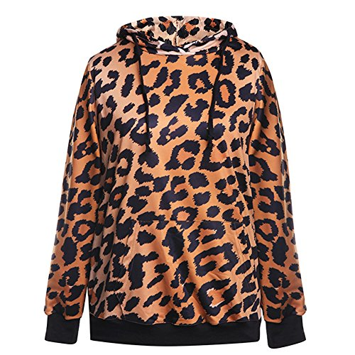 Leopard Hoodie (Sexy&Stylish Leopard Printed Sweatshirt for Women Hoodies)
