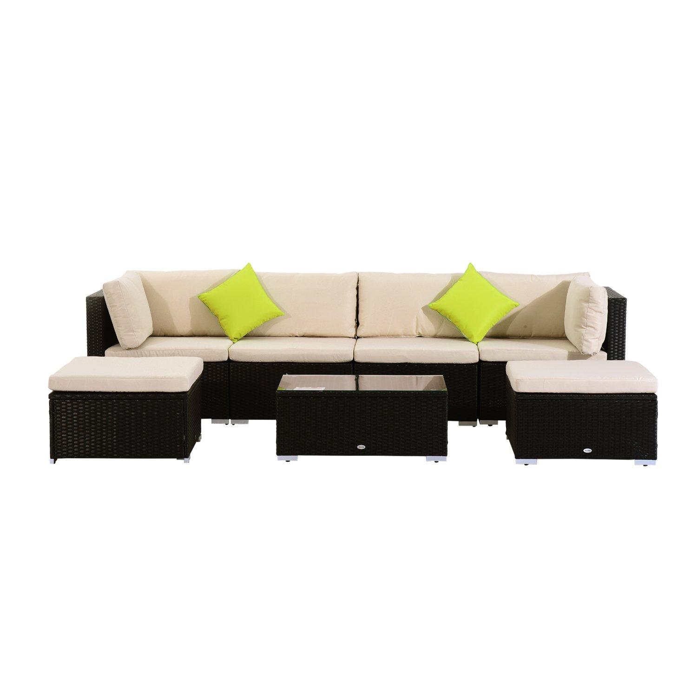 Outsunny Polyrattan Gartenmöbel 21tlg. Rattan Gartenset Sitzgruppe  Loungeset Loungemöbel Gartengarnitur Günstig Kaufen