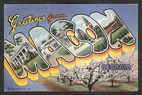 Greetings from macon ga postcard peachtree orchard 1944 at amazons greetings from macon ga postcard peachtree orchard 1944 m4hsunfo
