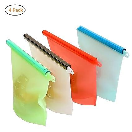 Ourine - Bolsa de silicona reutilizable para guardar ...