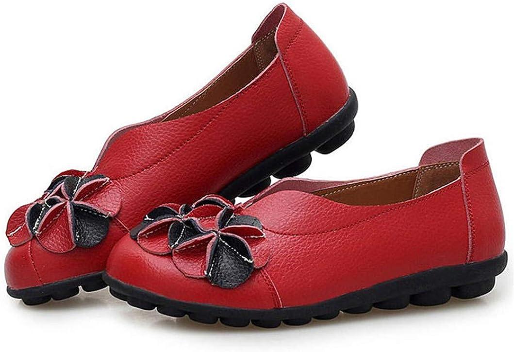 Chaussures pour Femmes en Cuir Mocassins Chaussures de Loisirs Douces Chaussures de Conduite pour Femmes Chaussures de Loisirs Chaussures Confortables pour Bateaux