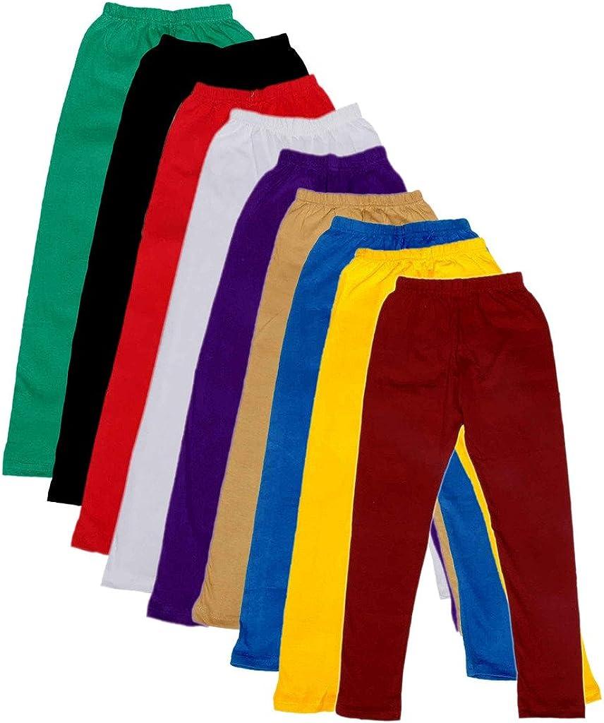 Indistar Kids Solid Leggings Pants Pack of 9 7140605040302010700-IW-36/_Multicolor/_13-14 Years