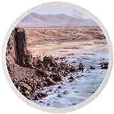 Pixels Round Beach Towel With Tassels featuring ''El Cotillo - Fuerteventura'' by Joana Kruse