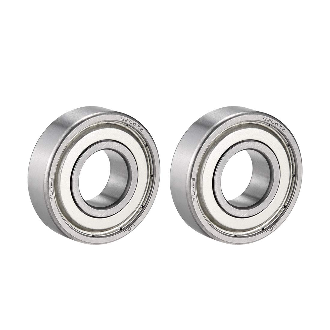 uxcell 6204Z Metal Sealed Deep Groove Radial Ball Bearing 20x47x14mm