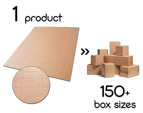 JustFoldMe - Láminas de cartón para cajas de cartón resistentes personalizables