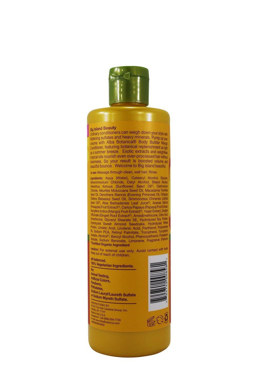 B002LN6KTE Alba Botanica Hawaiian Moisturizing Hair Conditioner, Body Builder Mango 12 oz (Pack of 12) 61dywuEkN4L._SL1500_