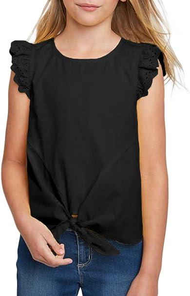 Acelitt Blusa Tipo túnica para niñas Informal, Suelta, Suave, para niños de 4 a 13 años de Edad - - XX-Large (12-13 años): Amazon.es: Ropa y accesorios