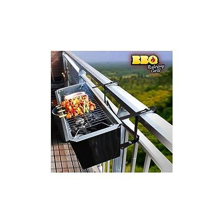 appetitissime BBQ Quick Barbecue a carbonella per balcone, Acciaio ...