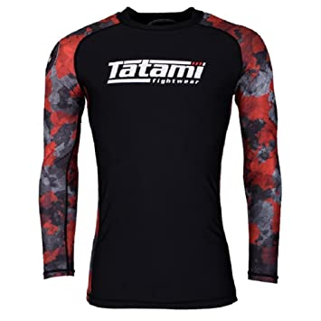 7239bf71a4def Tatami Rashguard Renegade - Red Camo - Rash Guard BJJ MMA Grappling  Funktions Camiseta Top de compresión para Hombre