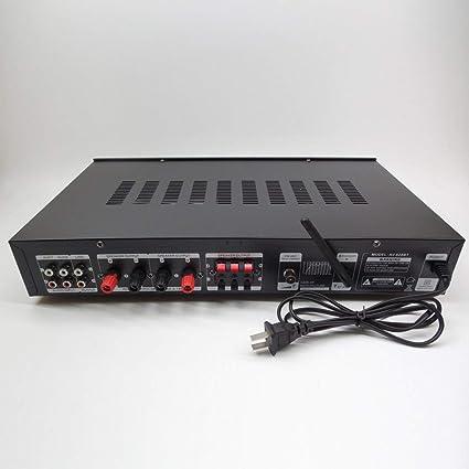 1120W 220V 5 Canales de Alta fidelidad de Bluetooth Amplificador de Potencia Multifuncional estéreo Digital de