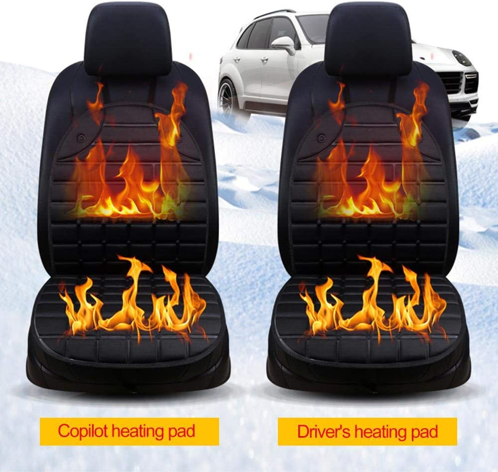 Womdee Heated Car Seat Cushion Nonslip Car Seat Warmer DC 12V Heated Car Seat Cover with Intelligent Temperature Controller /& Timer Setting Universal Fit for Auto Supplies Home Office Chair