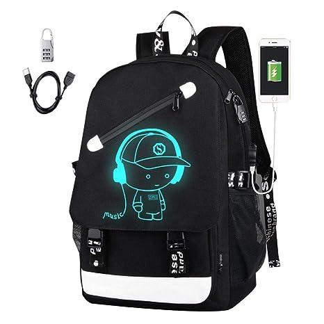 78e85161680f Luminous Backpack - Aolvo Laptop Backpack USB Rucksack Daypack ...
