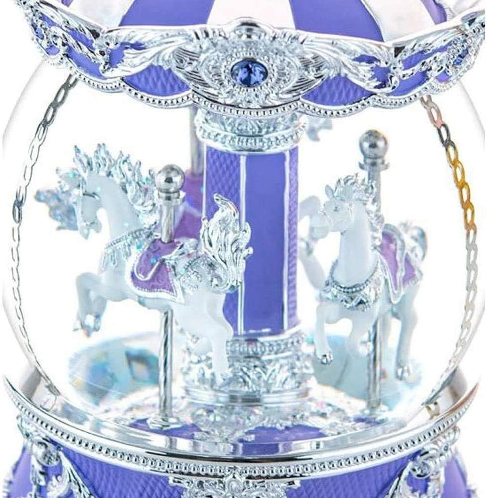 子供の誕生日プレゼントの装飾、オルゴールの女性のためのバレンタインデー妻女の子クリスタルボールカルーセルクリエイティブギフトゴールド