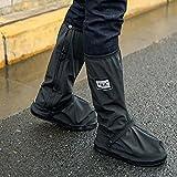 BECover Fundas Gruesas Impermeables para Zapatos de Motocicleta, Reutilizables, protección para Zapatos de Ciclismo, Nieve, Lluvia