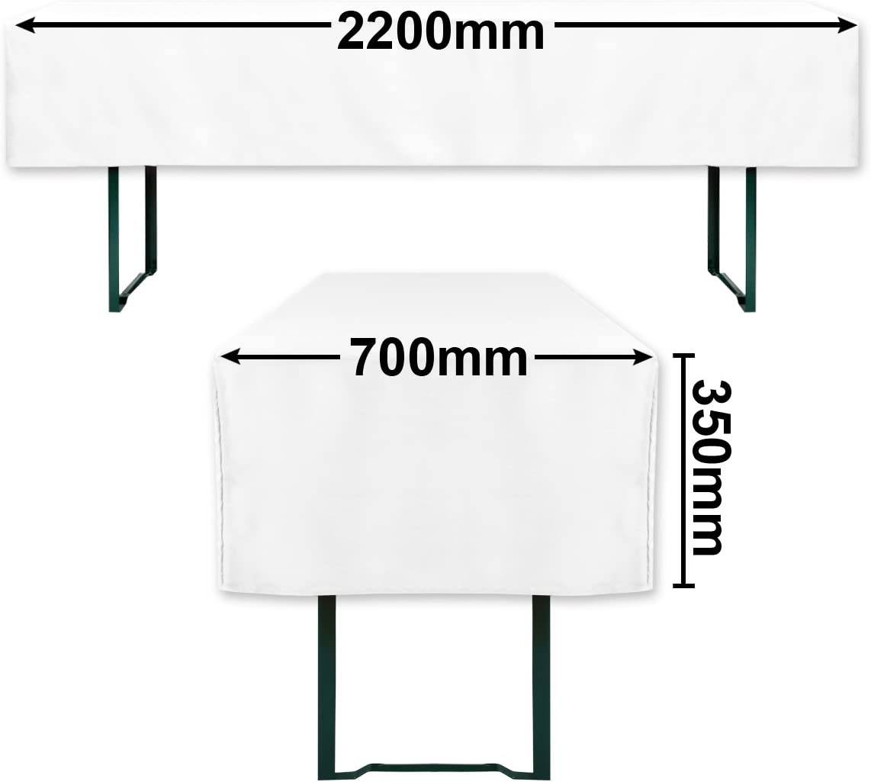mit /Öko-Tex Siegel Standard 100 :Gepr/üftes Vertrauen 30574 Anthrazit, 50x220cm Gr/äfenstayn/® Valentin 50cm oder 70cm Tischbreite Biertischhussen-Set 3 tlg f/ür Bierzeltgarnitur