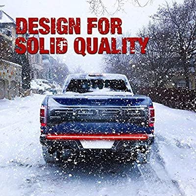 Niking Auto 60 Inch LED Truck Tailgate Light Strip Quad Row Bed Tail Light Bar Waterproof 5 Function Red Brake, White Backup Reverse, Red Turn Signal Strobe Light for Pickup Jeep SUV RV Van Dodge Ram: Automotive