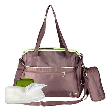Yodo roomy cochecito de bebé bolsa de pañales para madres – Plus limpiador dispensador caso,