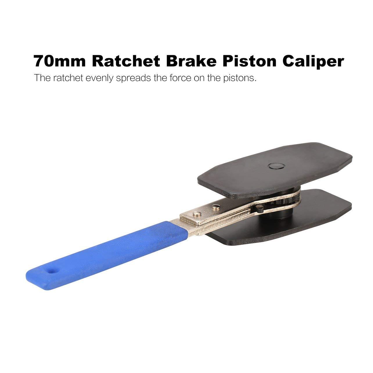 Farbe: blau 270mm Auto Ratchet Bremskolben Caliper Spreizwerkzeug Kompressor Auto Autoschl/üssel Press Einzel Twin Quad Pistons Install Tool