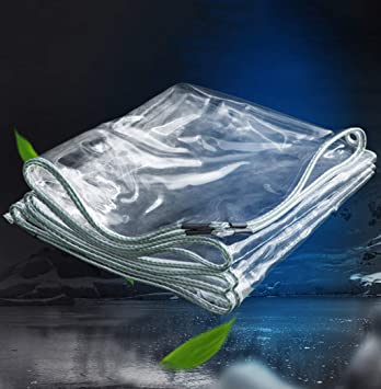 Transparente PVC wasserdichte Plane verdicken Regenschutz Tarp weicher Kunststoff Balkon Regen Vorhang Sonnenschutz Tarp mit /Ösen 350gsm