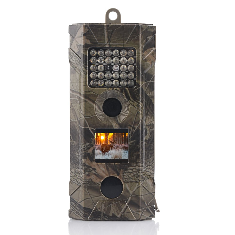 Wosports Trail Camera, 2019 Upgraded 1080P Hunting Game Camera, Waterproof Wildlife Camera with 850nm IR LEDs Night Vision 50ft for Home Security Wildlife Monitoring, Black by WOSPORTS