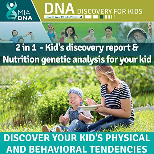 2 in 1 - Diet & Nutrition + Discovery for kids Home DNA Test Kit I Reveal Your kid's Potential. Find out how your children's genes influence who they are by using the latest genetic research.