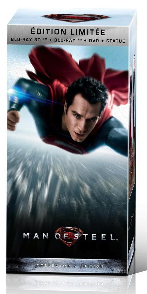 Man of Steel Coffret CollectorDVD + Blu-ray + Blu-ray 3D + Statue collector B00DI8RVL2