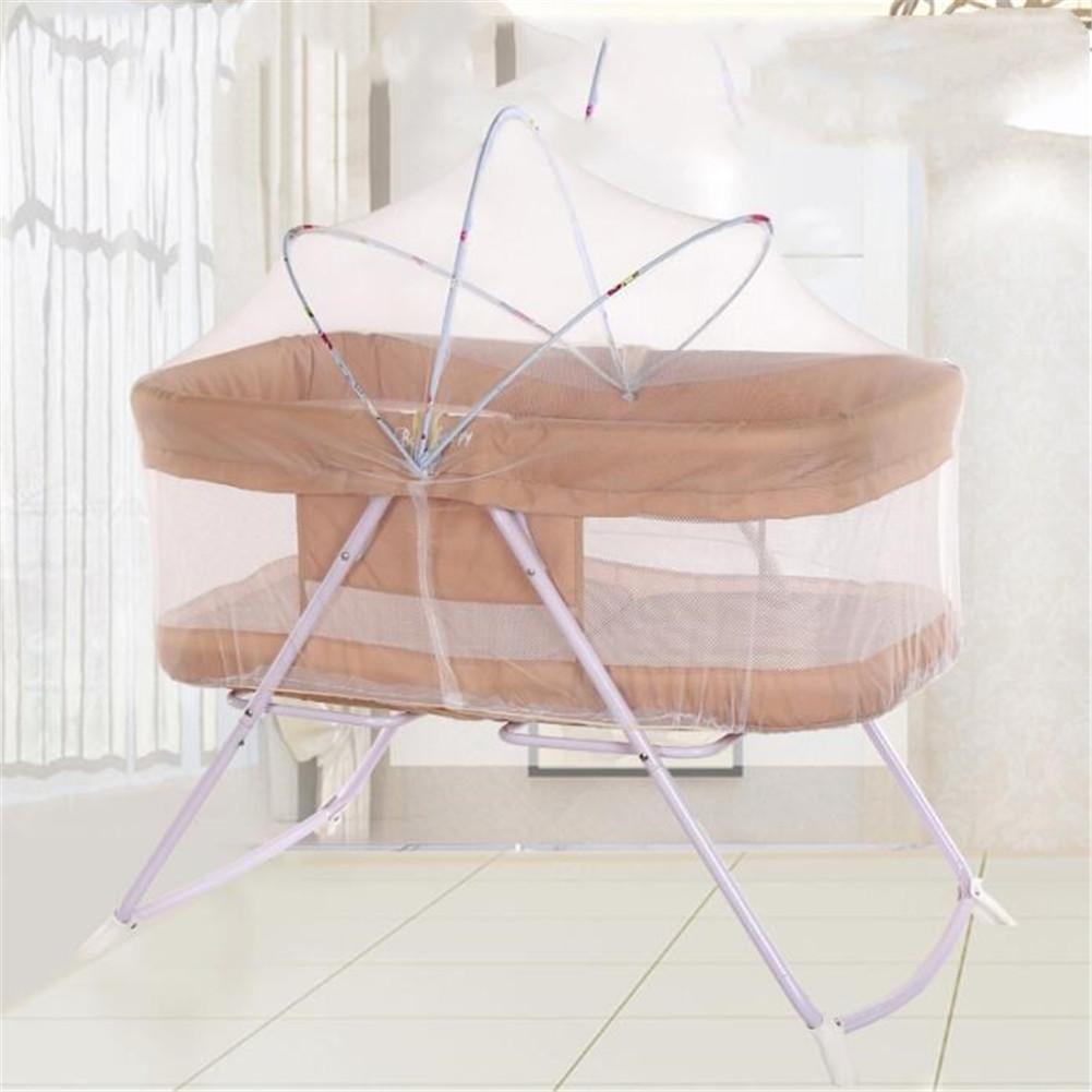 SQCOOL Cama de bebé multifunción Shaker Baby Bed Plegable portátil Travel Cradle Bed