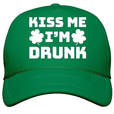 652e9b1dc67 Amazon.com  Customized Girl Irish Kiss Me Drunk Snap Back  Film and ...
