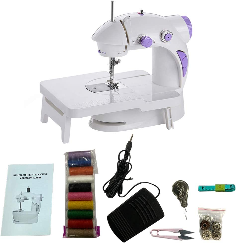 favourity-home Sewing Machine, Household Mini Portable Repairing Machine Beginner Portable Sewing Machine (with Extension Table) lamp/Sewing kit/Travel