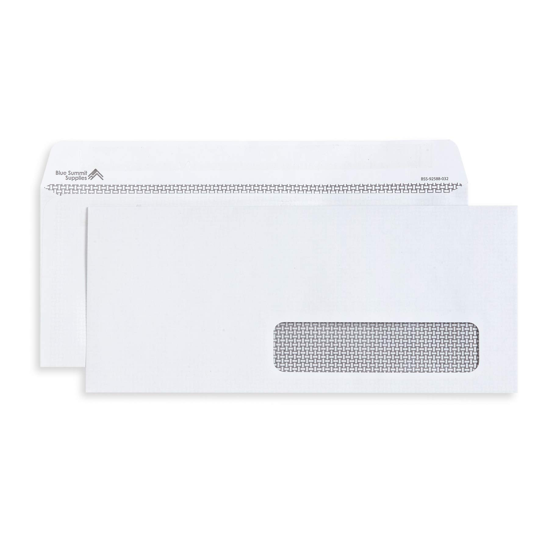 500 Self Seal Number 10 Single Right Window Envelopes - Security Lining - Designed for Secure Mailing of Invoices, Documents, and Business Statements, 4 1/8 x 9 1/2 Inches, 500 Ct by Blue Summit Supplies