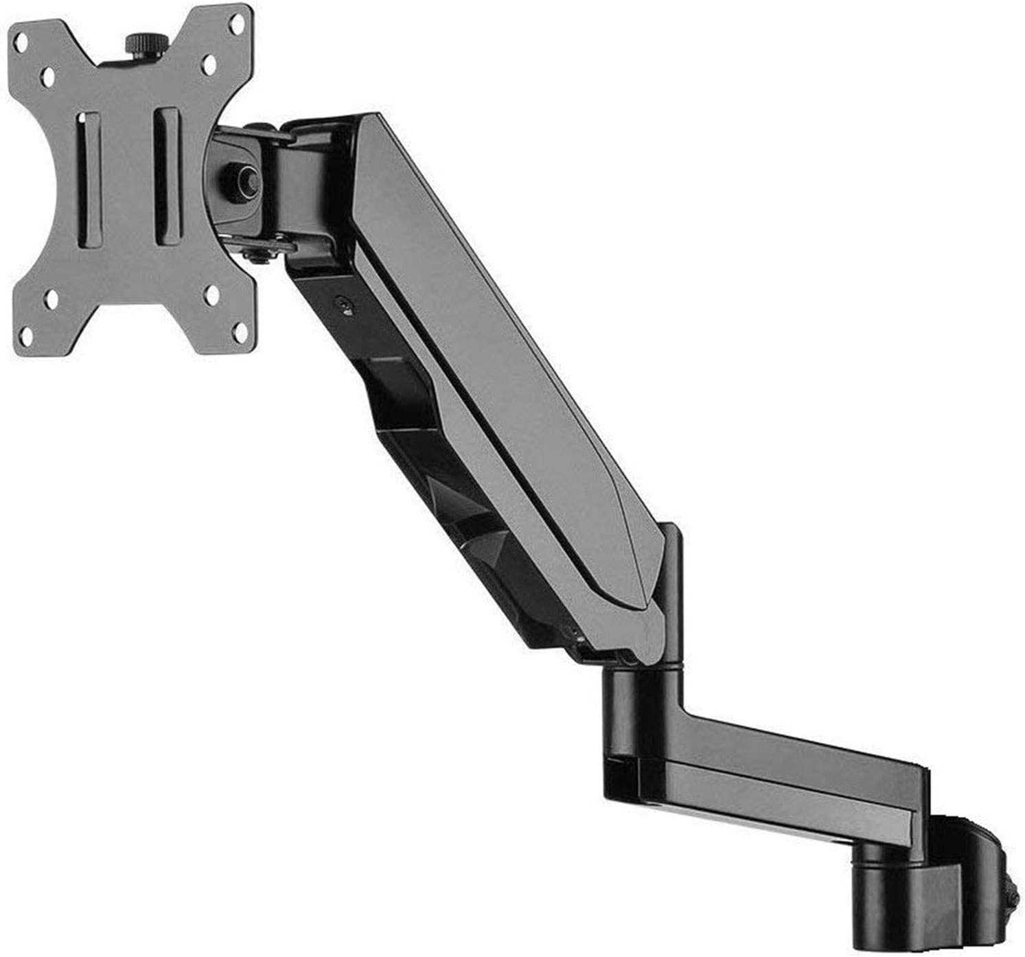 WALI Premium Single Fully Adjustable Gas Spring Arm for WALI Monitor Mounting System (GSAM001), Black