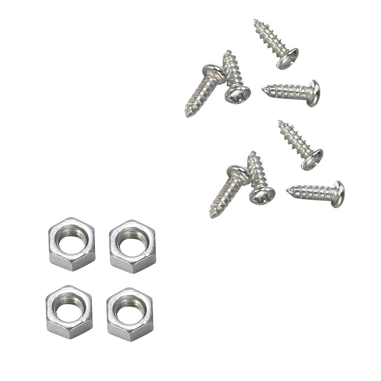 Universal Car Racing Style Stainless Steel Mount Hood Pin Plate Bonnet Lock Kit