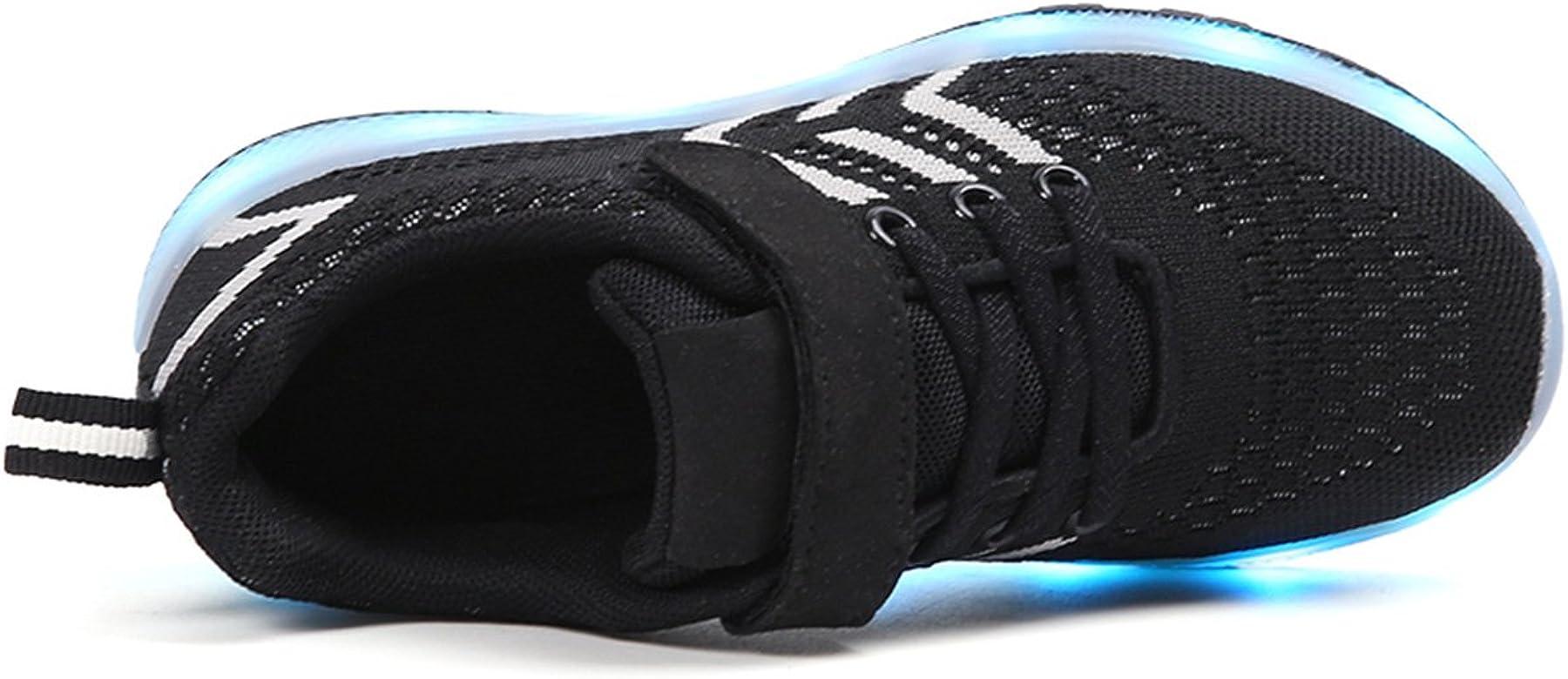 Ajerlu Bevoker Kids LED Light Up Sneakers 11 Colors Sports Dancing Flashing Shoes for Boys Girls USB Charging